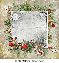 kerstmis en nieuw jaar, kaart