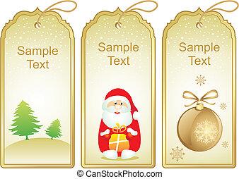 kerstmis, etiketten