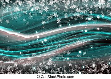 kerstmis, fantastisch, ontwerp, snowflakes, golf