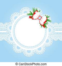 kerstmis, frame, kant