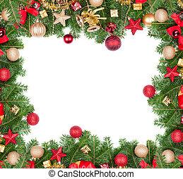 kerstmis, frame, met, kosteloos, ruimte, voor, tekst
