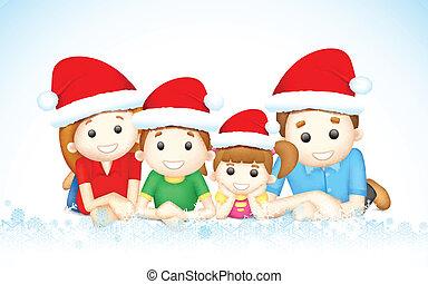 kerstmis, gezin