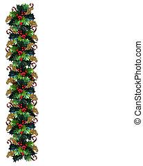 kerstmis, grens, hulst