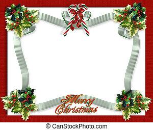kerstmis, grens, linten