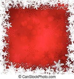 kerstmis, grens, sneeuwvlok