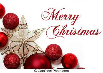 kerstmis, grens, versieringen, vrolijk, meldingsbord