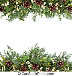 kerstmis, groen, grens
