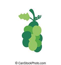 kerstmis, groene druif, pictogram
