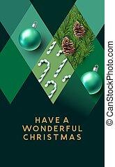 kerstmis, groene samenvatting, textuur, achtergrond