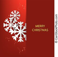 kerstmis, groet, card., vector, ziek
