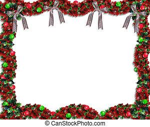 kerstmis, guirlande, grens