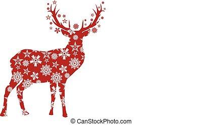 kerstmis, hertje