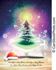 kerstmis, het fonkelen, boompje, abstract