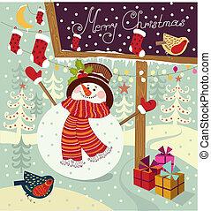 kerstmis, illustratie