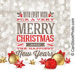 kerstmis, illustratie, begroetenen