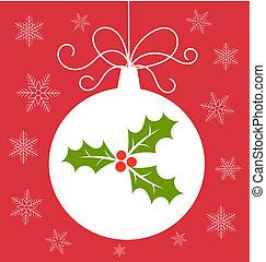 kerstmis kaart, bauble
