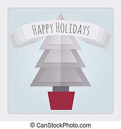 kerstmis kaart, boompje