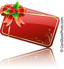 kerstmis kaart, cadeau