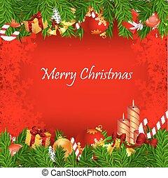 kerstmis kaart, kleurrijke