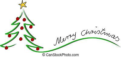 kerstmis, kaart, zalige kerst