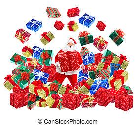 kerstmis, kerstman, vrolijke
