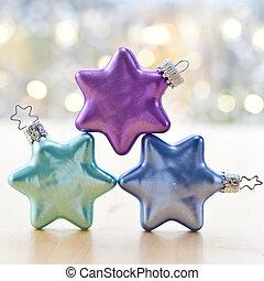 kerstmis, kleurrijke, baubles