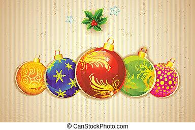 kerstmis, kleurrijke