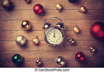 kerstmis, klok