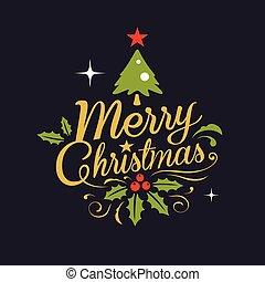 kerstmis, lettering, achtergrond