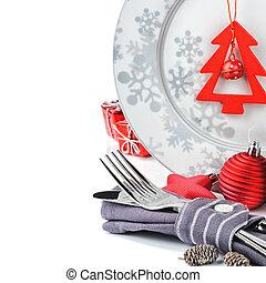 kerstmis, menu, concept