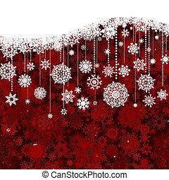 kerstmis, model, eps, jaar, nieuw, 8, witte , red.