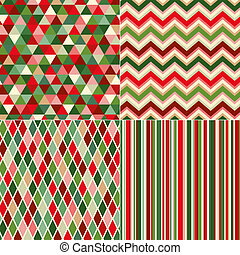 kerstmis, model, seamless, kleuren