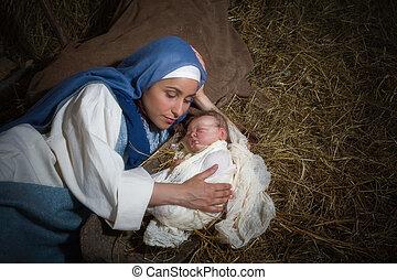 kerstmis, moeder, liefde