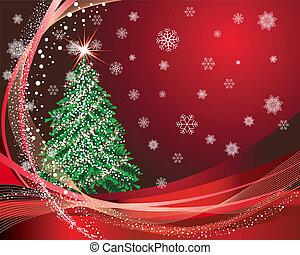 kerstmis, (new, year), kaart