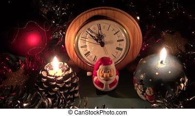 kerstmis, nieuw, viering, jaar