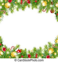 kerstmis, ouderwetse , grens