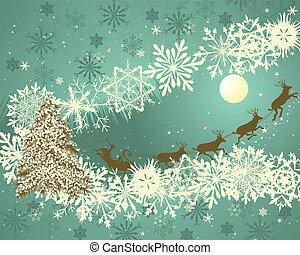 kerstmis, retro
