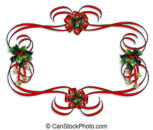 kerstmis, rode landsgrens, linten