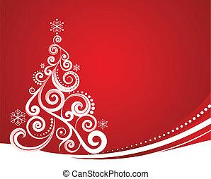 kerstmis, rood, mal