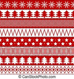 kerstmis, seamless, textuur