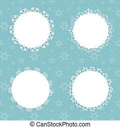 kerstmis, sneeuwvlok, achtergronden