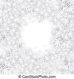 kerstmis, snowflakes, achtergrond