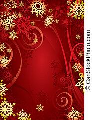 kerstmis, snowflakes, (illustration)