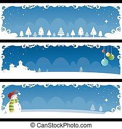 kerstmis, spandoek