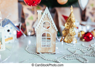 kerstmis, speelbal, drive., kerstmis, elkay., de giften van kerstmis