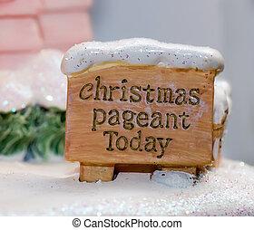 kerstmis, spektakelstuk, meldingsbord