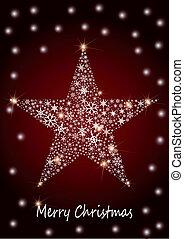 kerstmis, ster
