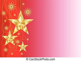 kerstmis, sterretjes