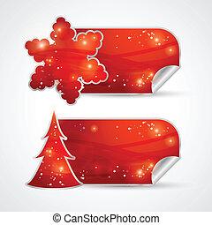 kerstmis, sticker