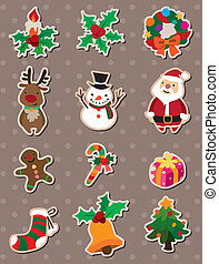 kerstmis, stickers
